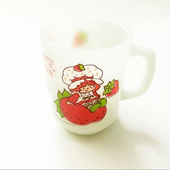 Vintage Strawberry Shortcake Mug Cup Milk Glass